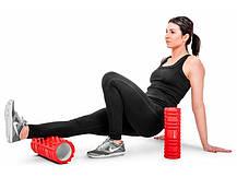 Роллер массажер для кросфита и йоги Hop-Sport HS-001YG red, фото 3
