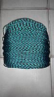 """Верёвка """"Крокус"""" (шнур) диаметром 4мм паракорд (зелено-черная)"""