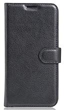 Кожаный чехол-книжка для Huawei Nova черный
