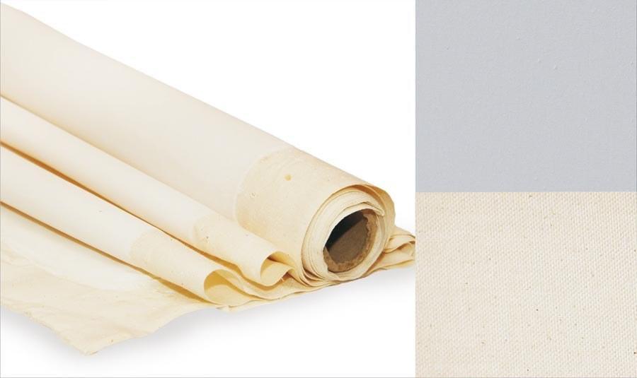 Холст грунтованный Rosa Gallery 2x1 м мелкое зерно хлопок светло-серый в рулоне (4820149875842)