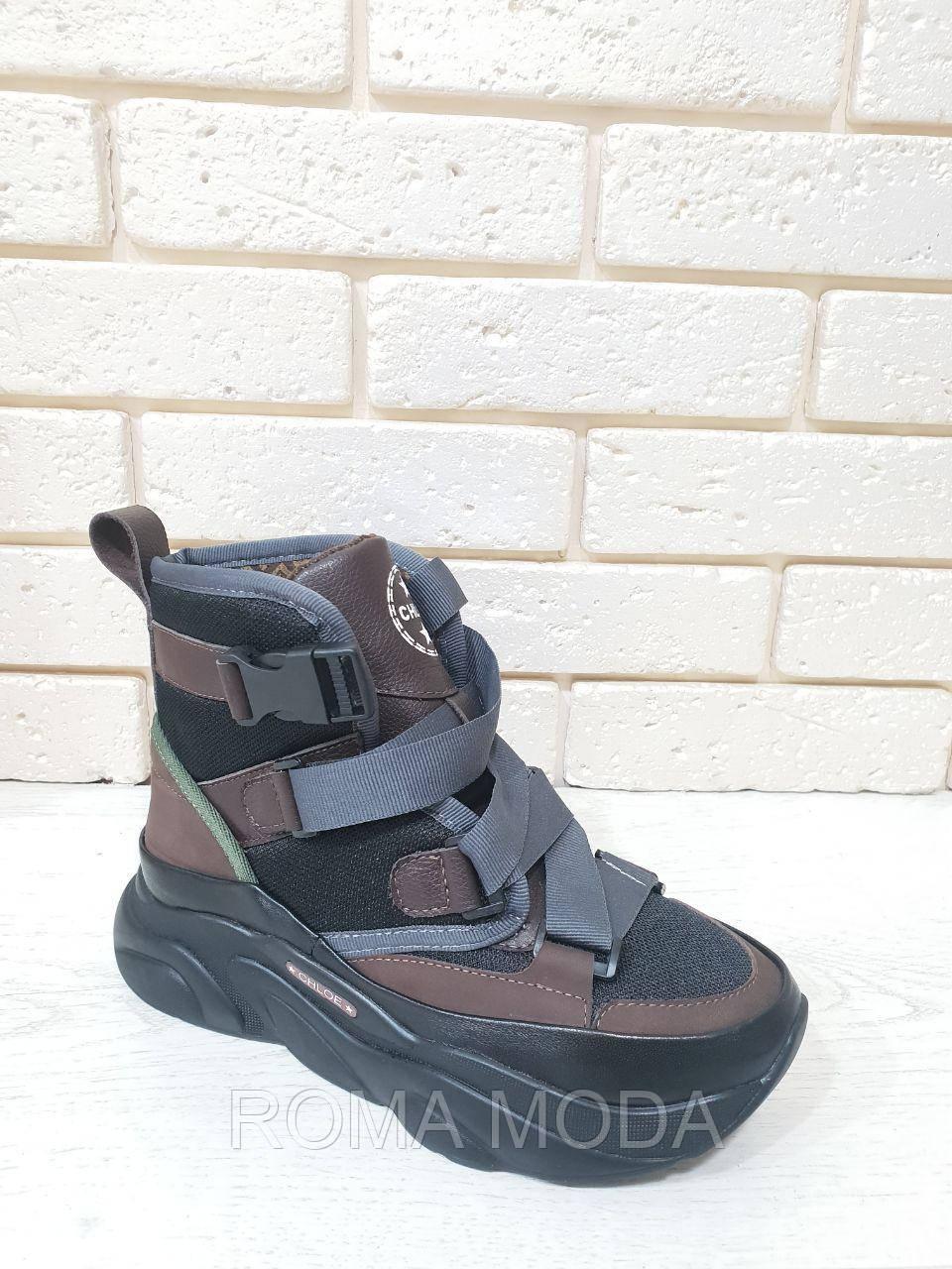 Стильные кроссовки-ботинки женские 2060/2