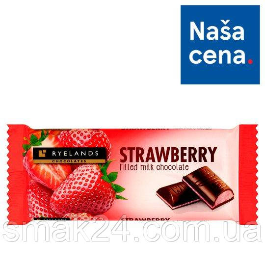Шоколад молочный с клубничным йогуртом Strawberry Ryelands  100г Словения