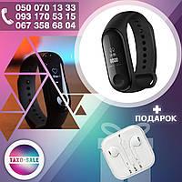 Фитнес - браслет XIAOMI Mi Band 3 Black умные смарт часы, телефон + Наушники Apple EarPods В ПОДАРОК!
