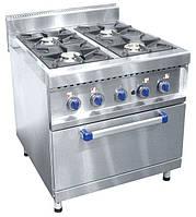 Газовая плита 4-х горелочная Abat ПГК-49ЖШ