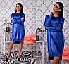 Платье-туника красивое вязанное мерцающим напылением разные цвета Smch2779