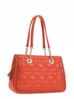 Кожаная сумка женская красная Z28A-3386L