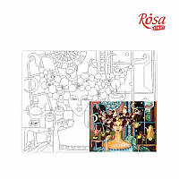 Холст на картоне с контуром Rosa Start 30x40 см Лимонное кофе с привкусом интриги А.Навроцкая (4820149896496)