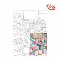 Холст на картоне Rosa Start с контуром Натюрморт №25 30x40 акриловый грунт хлопок 4823086705159
