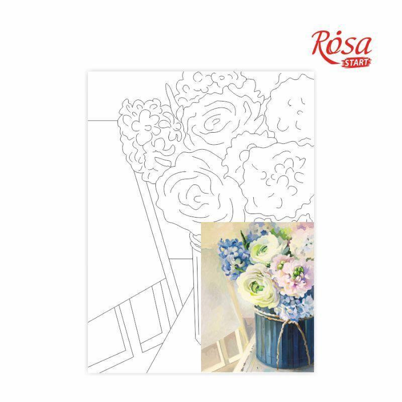 Холст на картоне с контуром Rosa Start 30x40 см акрил хлопок Натюрморт №26 (4823086705142)