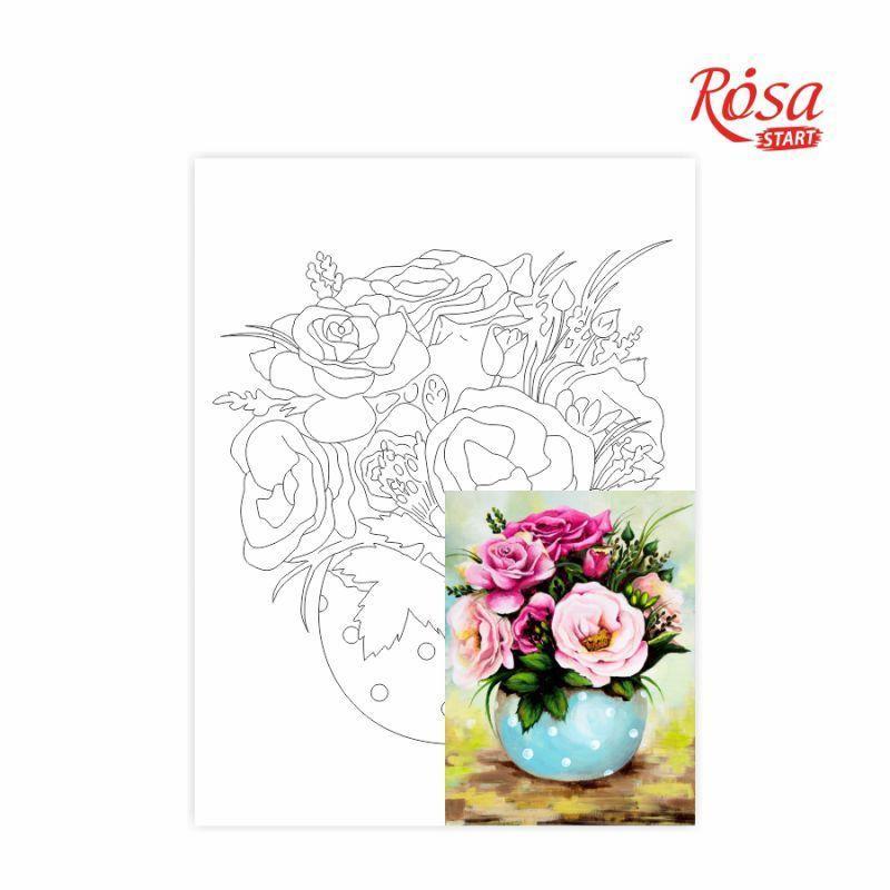 Холст на картоне с контуром Rosa Start 30x40 см акрил хлопок Натюрморт №27 (4823086705135)