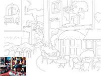Полотно на картоні Rosa Start з контуром Пейзаж №13 30x40 акриловий грунт бавовна 4820149887623