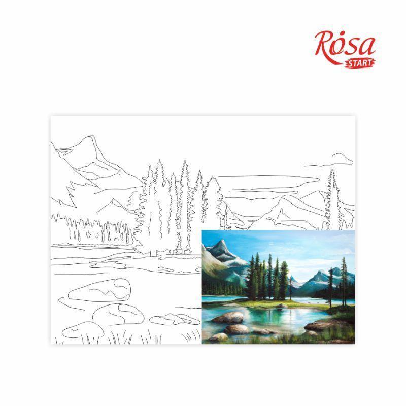Холст на картоне с контуром Rosa Start 30x40 см акрил хлопок Пейзаж №22 (4823086705111)
