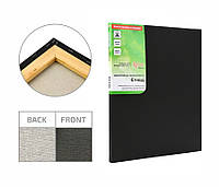 Полотно на підрамнику Етюд дрібне зерно 20x20 см бавовна чорний грунт 4820149872551