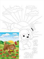 Полотно на картоні Rosa Start з контуром, Мультфільм №18 20x30 акриловий грунт бавовна 4820149882451
