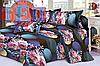 Постельное белье 3D сатин RestLine Виолетта двуспальный