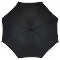 Зонт-трость FLORA с чехлом, 103 см, Чёрный