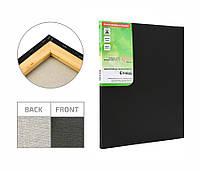 Полотно на підрамнику Етюд дрібне зерно 25x35 см бавовна чорний грунт 4820149872933