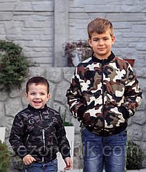 Куртка бомбер на мальчиков камуфляж весна осень
