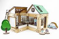Магнитный деревянный конструктор «Эко-дом», ЗЕВС