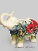 Большая фарфоровая копилка Слон Pavone
