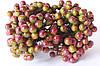 Глянцевые ягоды (калина) 10 шт/уп. зеленого цвета с фиолетовым бочком