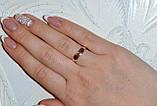 Серебряное обручальное кольцо с вставками из золота, фото 5