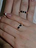 Серебряное обручальное кольцо с вставками из золота, фото 6
