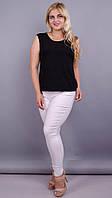 Джеггинсы летние стильные большого размера Эшли белый
