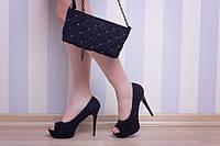 Туфли модельные на скрытой платформе