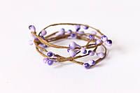 Декоративная веточка с тычинками фиолетового цвета, фото 1