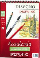 Альбом для малювання Fabriano А5 30л 200г/м2 Accademia дрібне зерно спіраль 8001348150848