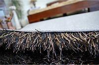 Длинношерстные ковры шегги, ковер лапша, пушистые ковры, темно коричневые ковры, фото 1