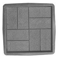 Формы для тротуарной плитки Квадрат 8 кирпичей шагрень