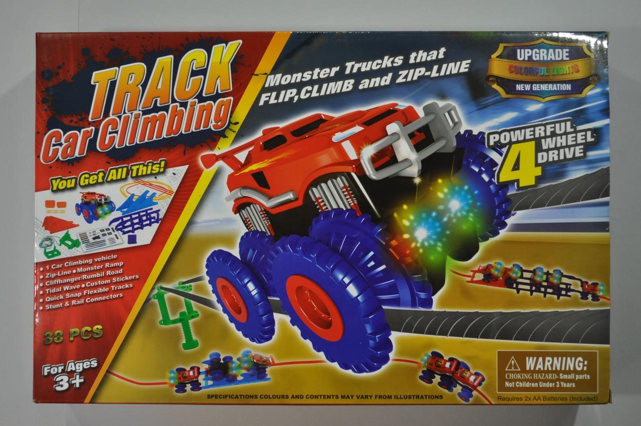 Набір Trix Trux Великий 38 деталей 1 машинка монстр-трак і повний комплект перешкод