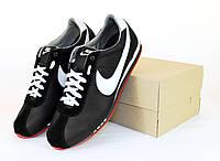 Кроссовки мужские Nike Cortez (размер 44), черные, натуральная кожа + замша