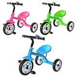Трехколесный велосипед Profi Trike М 2101 Зеленый, фото 2
