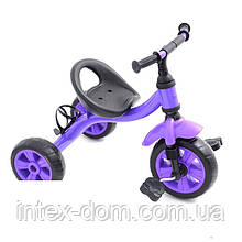 Триколісний велосипед Bambi M 2382V (Фіолетовий)