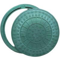 """Люк """"Аква-G"""" полимерпесчаный зеленый (1т) р.590/720"""