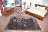 Ковер высоковорсный венге, темно коричневый ковер, ковры ворсистые толстые, фото 2