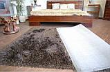 Ковер высоковорсный венге, темно коричневый ковер, ковры ворсистые толстые, фото 3