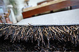 Ковер высоковорсный венге, темно коричневый ковер, ковры ворсистые толстые, фото 4