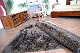 Ковер высоковорсный венге, темно коричневый ковер, ковры ворсистые толстые, фото 5