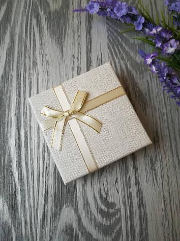 Коробка подарочная квадратная под украшения белая 90 * 90 * 35 мм, фото 2