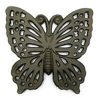 """Подставка под горячее """"бабочка""""чугунное литье (17х17х1,5 см)(ai12233)"""