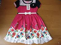 Детское летнее платье для  девочки - хлопок  1 год  Турция,