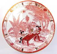 Коллекционная тарелка! Ручная роспись!Старый Китай