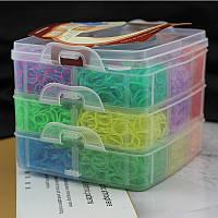 Резинки для плетения браслетов в пластиковом кейсе, 12000 шт.