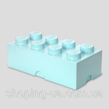 Восьми точечный светло голубой контейнер для Lego 40041742, фото 2