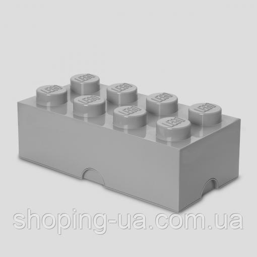 Восьми точечный серый контейнер для хранения Lego 40041740