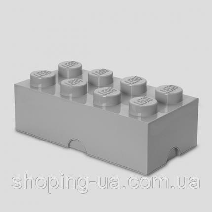 Восьми точечный серый контейнер для хранения Lego 40041740, фото 2